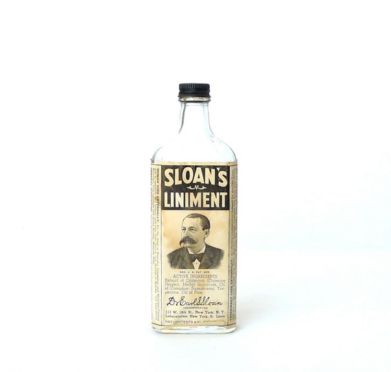 Sloan's Liniment Bottle with Label