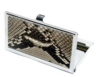Natural Snakeskin Business Card Case - by UNEARTHED