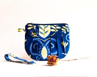 Royal Blue Wedding Clutch Purse, Bridesmaid Gift Idea Wristlet Clutch, Bridal Clutch Purse