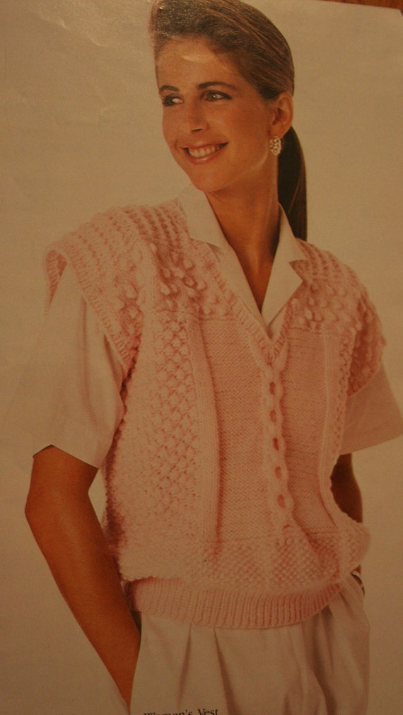Knitting Patterns Sweaters Vests Knitting With Style 0441 Women Men Vintage Paper Original Not A
