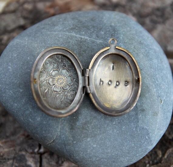 i hope . a (whispered) soul mantra locket