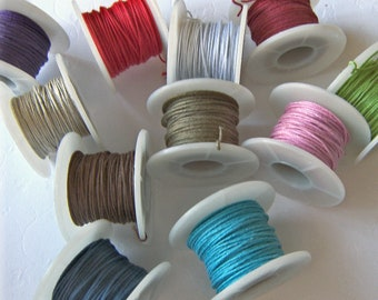 Fabric Covered Wire, 10 YARD SPOOL/0.7mm Wide, PICK Your own Color
