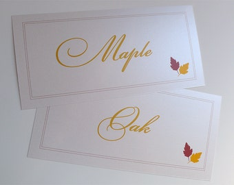 15 Autumn Inspired Reception Table Cards