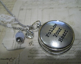 Compass Necklace Follow Your Heart Graduation Gift