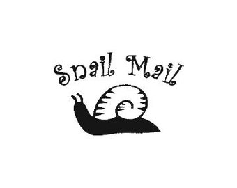 CLEARANCE Snail Mail Rubber Stamp Mail Art