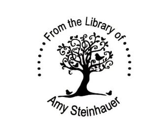 Bookplate From the Library of Stamp Whimsical tree