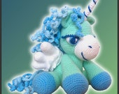 Amigurumi Pattern Crochet Peppermint Pegasus DIY Instant Digital Download PDF