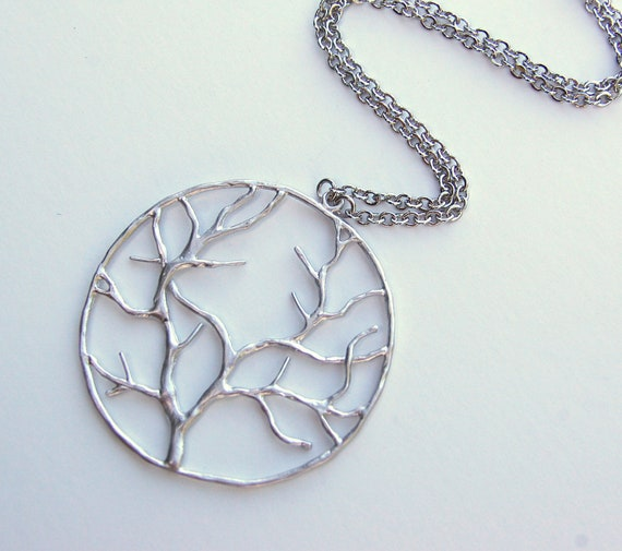 Silver Tree of Life Necklace, pendant, gift, wedding, mother, wife, sister, daughter, bridesmaid, birthday, fall fashion, back to school