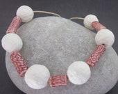 Handmade Textured Porcelain Bead Assortment