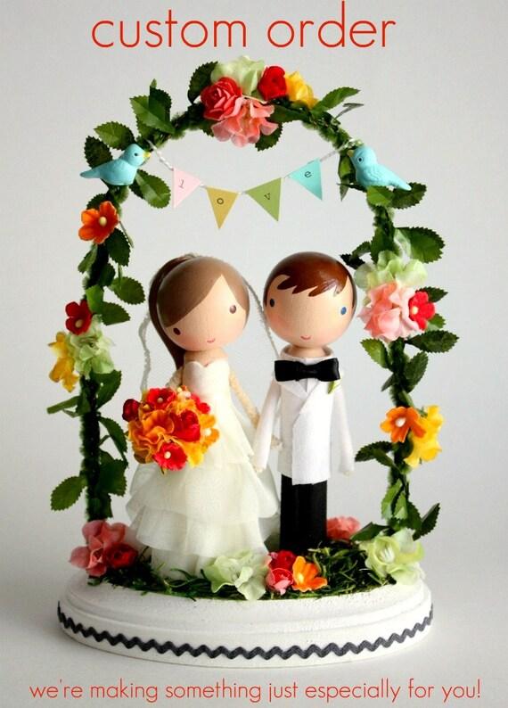 custom wedding cake topper - order for - RBECK