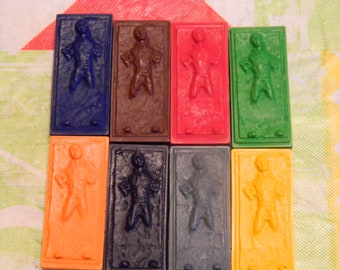Star Wars RHan Solo in Carbonite Crayons Recycled/Upcycled