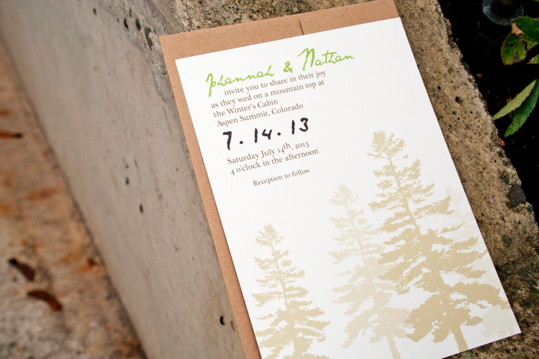 Outdoor Themed Wedding Invitations: Chandeliers & Pendant Lights