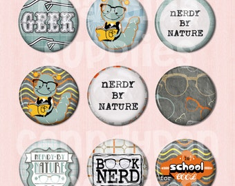 15 School Flat back Buttons or Pinback Buttons
