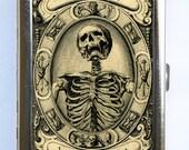 Memento Mori Skeleton Cigarette Case Wallet Business Card Holder psychobilly gothic punk odd death