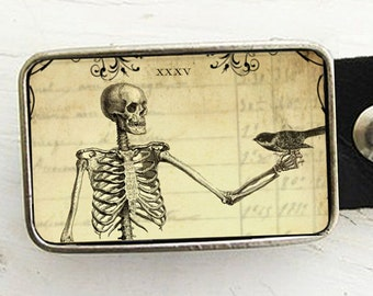 Skeleton Belt Buckle, Halloween Belt Buckle