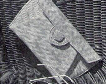 Pleat Clutch Purse Bag Pattern Vintage Handbag Sewing Pattern Instructions Pdf instant download