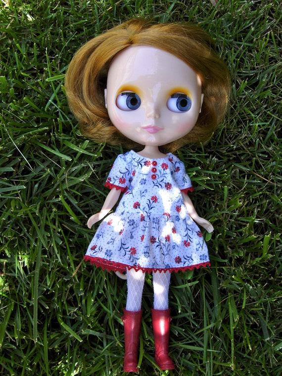 Drop Waist Blythe Dress - Red, White, and Blue