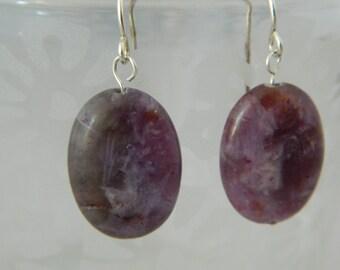 Oval Purple Amethyst Earring
