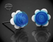 Flower Earrings - made with LEGO bricks
