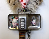 WARM FUZZIES  mixed media recycled found object sculpture