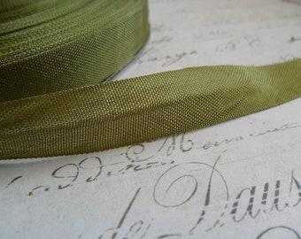 Army Green Vintage Seam Binding Ribbon