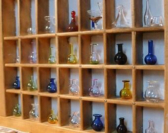 MINIATURE Glass Bottles Hand Blown and Sculpted by Jenn Goodale