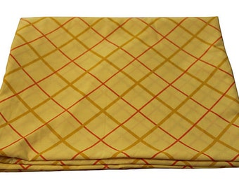 New Vintage Duvet Cover -Yellow Plaid - New Twin Full Queen - Blanket Cover