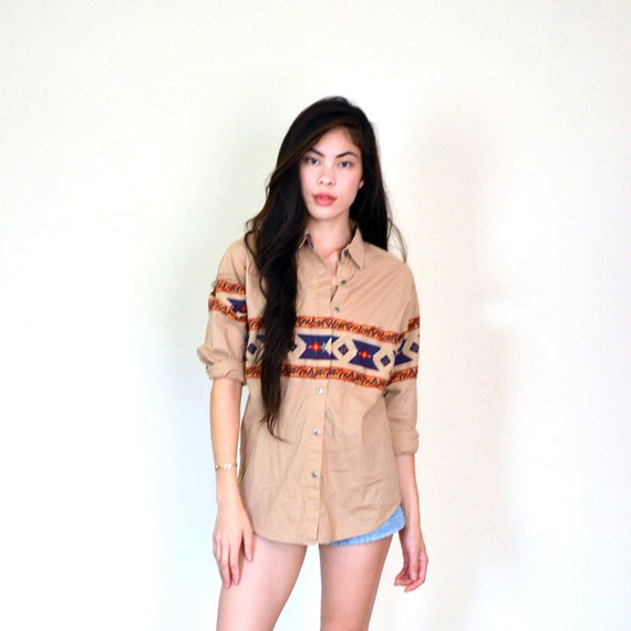 vintage southwestern cotton top