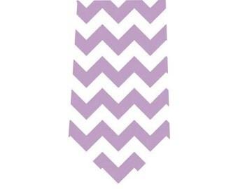 Boy's Tie Lavender Chevron Child's Necktie