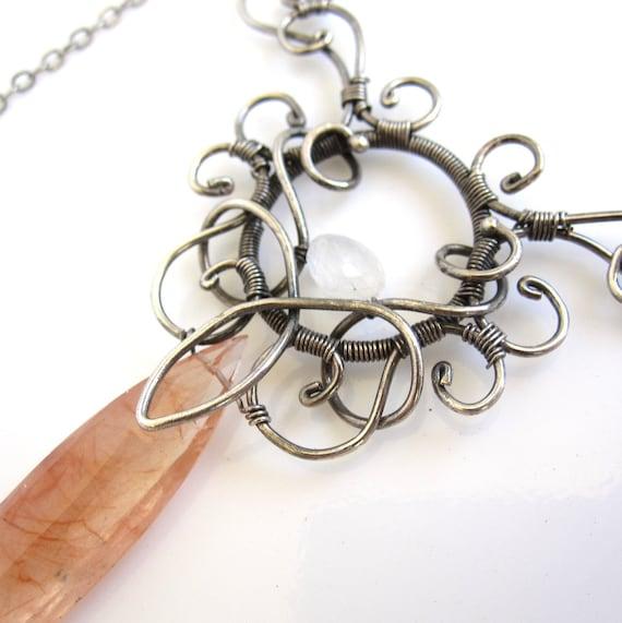 Peaches and Cream Necklace