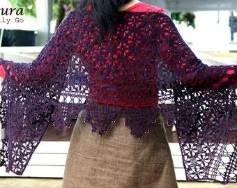 Laura Crocheted Shawl in PDF File