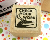 Check Your Work - Monster rubber stamp for teachers