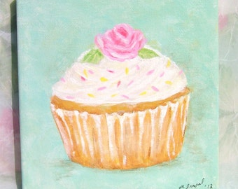 Cupcake painting foryour shabby kitchen