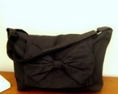 Handmade Adjustable strap laptop book bag Messenger bag in black color variations avaliable