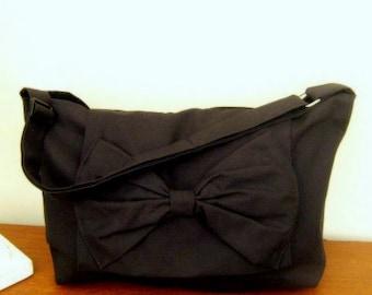 Handmade Adjustable strap laptop book bag Messenger bag in black color variations avaliable