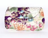 Japanese Purple Chrysanthemum clutch purse - mincdesign