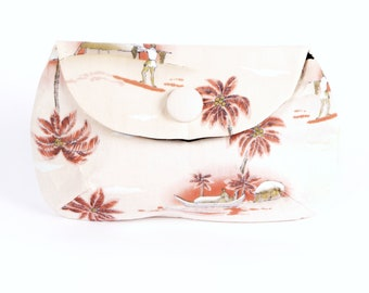 Vintage Tropical Island Holiday clutch purse