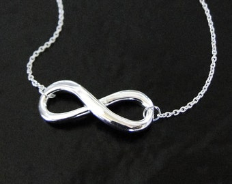 Infinity Necklace in Sterling Silver - Everlasting Love As Seen on Reese Witherspoon