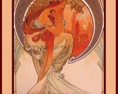 PR-265 Artistic Ephemera 8 x 10 Print - Alphonse Mucha - Art Nouveau 'Poetry' - Also Available as Small Prints, Thank You Cards or Postcards