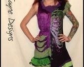 Skeleton / Rib Cage Party Dress  - Asymmetric