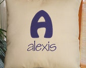 Khaki Monogrammed Pillow , Monogram Pillow, Personalized Pillow, Initial Pillow, Khaki Throw Pillow, Accent Pillow, Custom Pillow