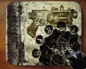 Steampunk Guns Gears Mouse Pad Mousepad for Home or Office