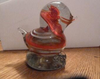 Vintage Glass Bird Paperweight