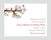 Love Bird Save the Date Cards