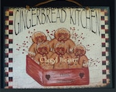 Gingerbread Kitchen Wood Sign