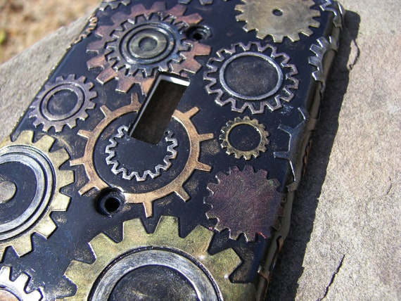 Steampunk Steam Punk Light Switch Plate Switchplate Cover Polymer Clay