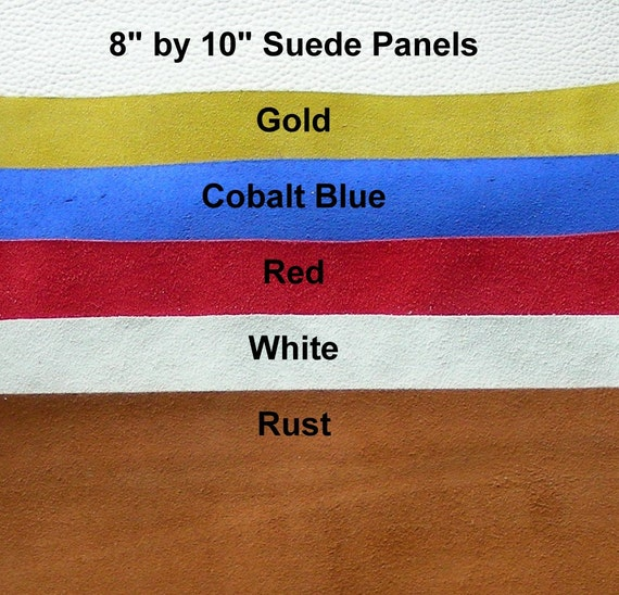 """Leather Pieces,  8"""" by 10"""", Lot of 5, Assorted Colors"""