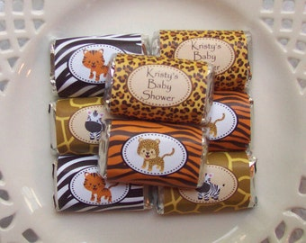 Printable Safari Baby Shower Mini Candy Bar Wrappers