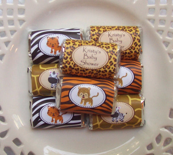 Printable Safari Baby Shower Mini Candy Bar Wrappers