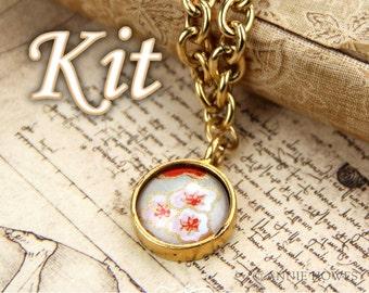 Glass Photo Charm Bracelet Kit. Make your own charm bracelet Photo Jewelry Making by Annie Howes.